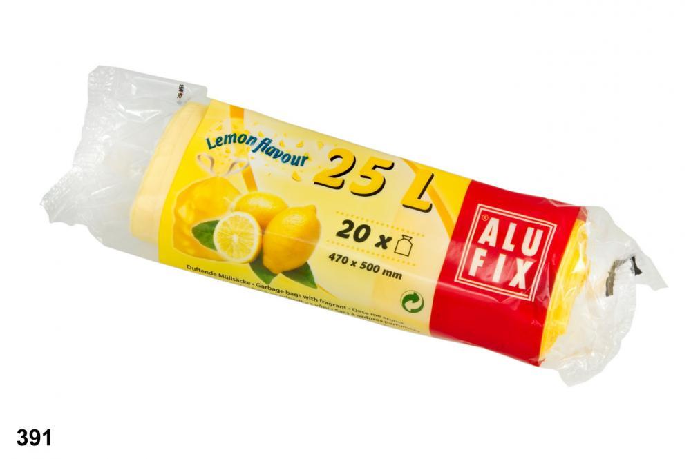 Worki na śmieci 25L z aromatem cytryny