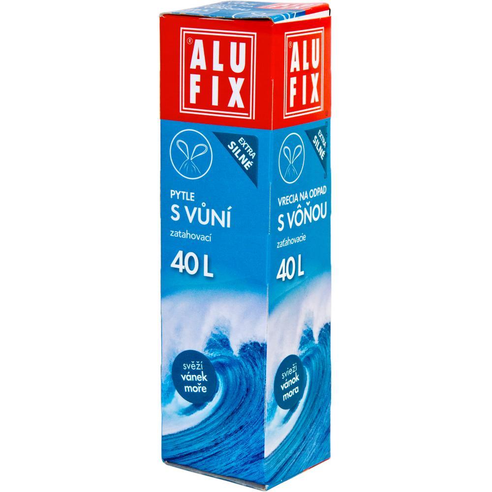 Worki na śmieci 40L z taśmą zamykającą  - aromat bryza morska