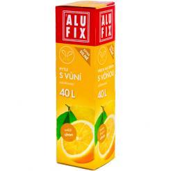 Worki na śmieci 40L z taśmą zamykającą - aromat cytryna