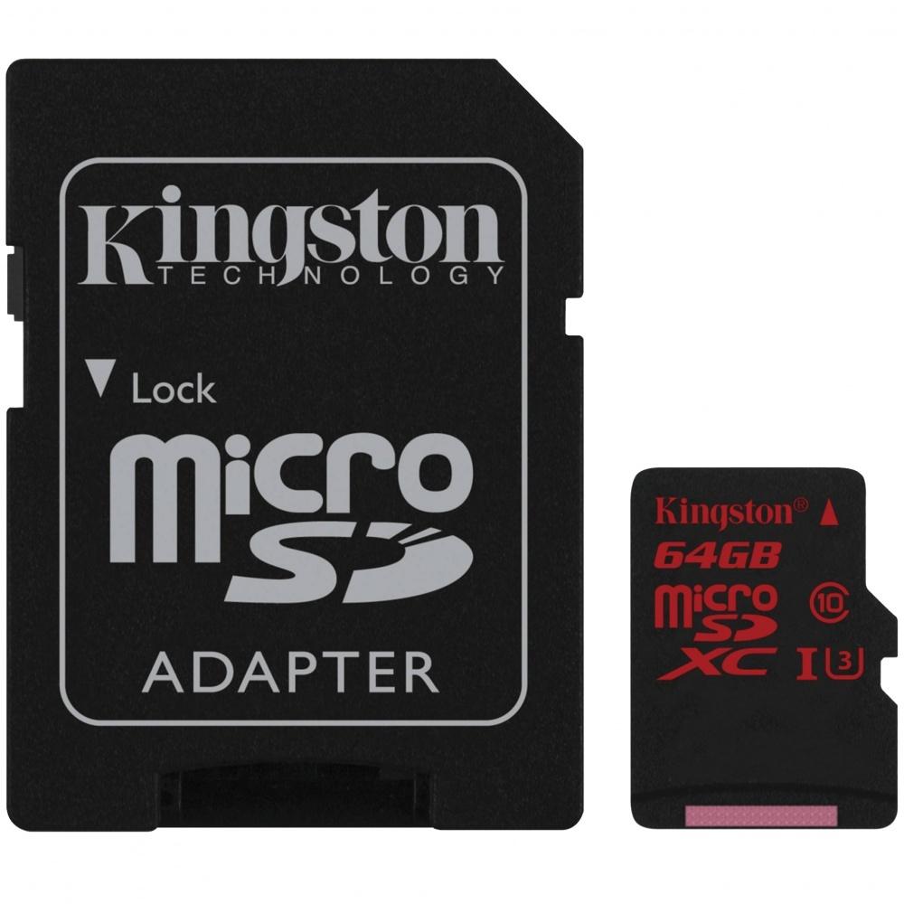 Kingston microSDXC 64GB UHS-1 90R/80W