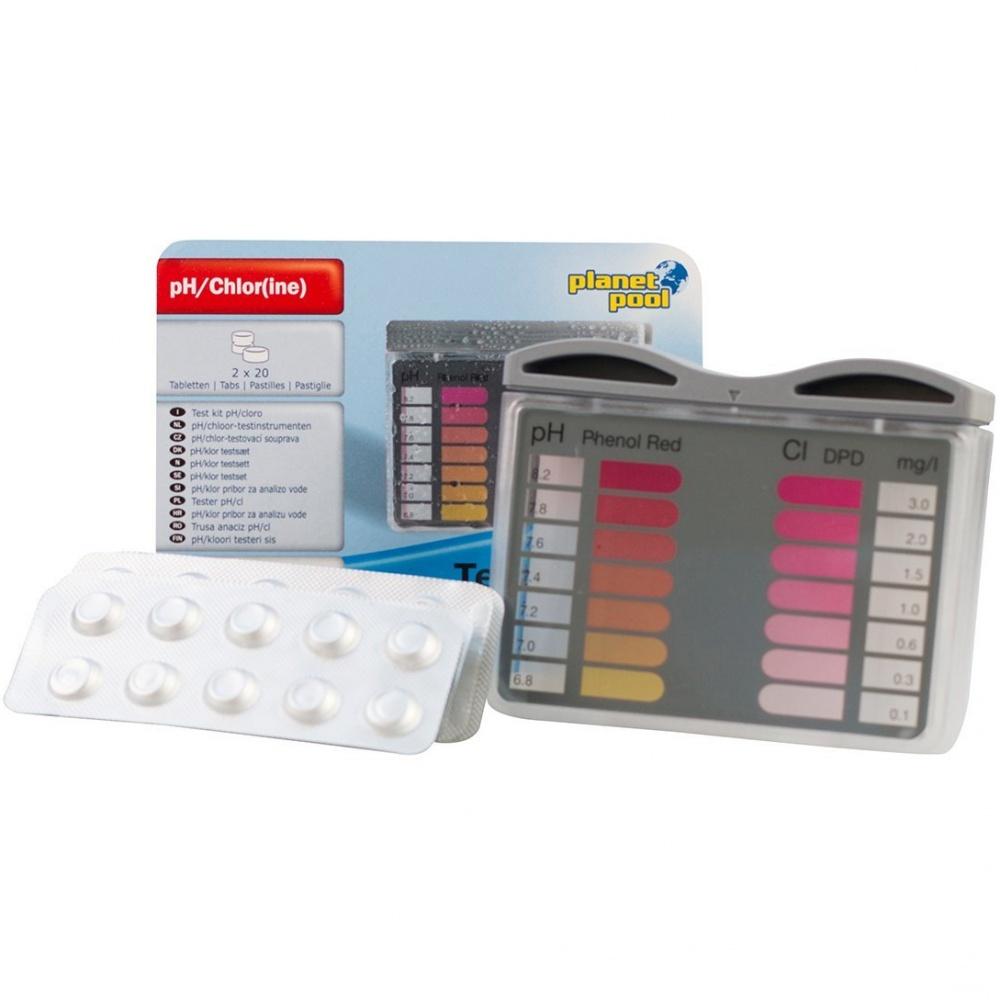 Tester do mierzenia pH/Cl + 2x20 tabletek