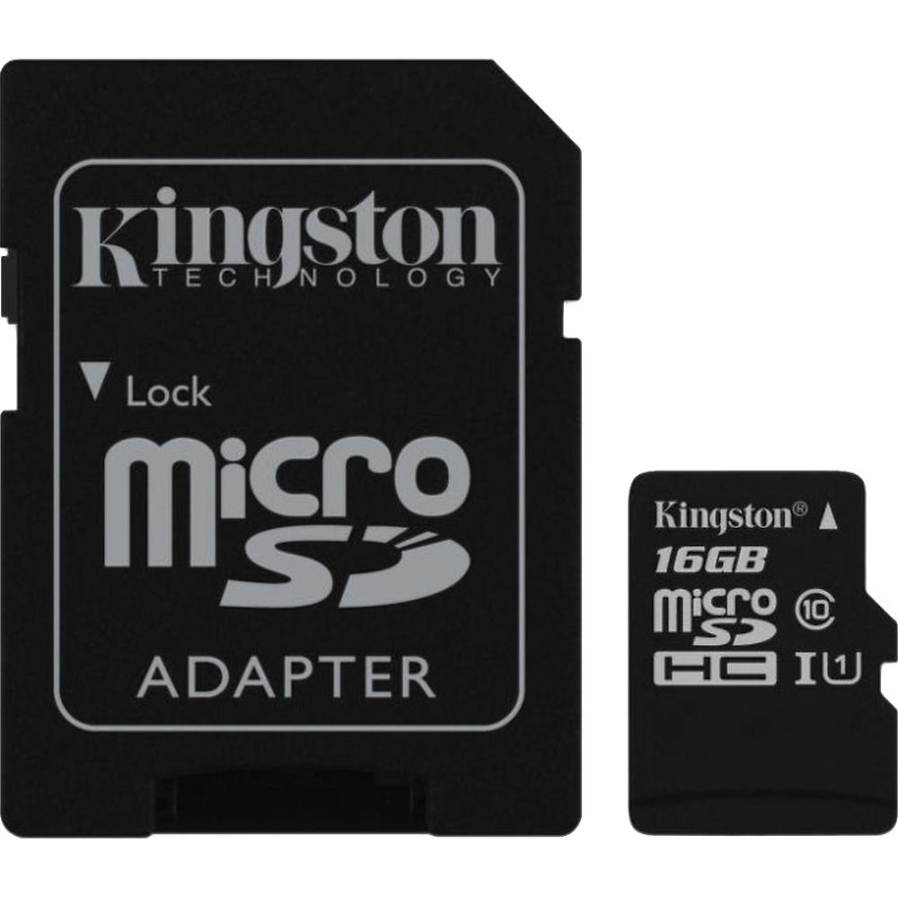 Kingston microSDHC 16GB UHS-1 90R/45W