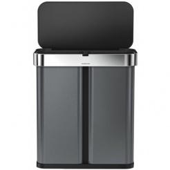 Simplehuman RECTANGULAR 58L sortowany odpad - black