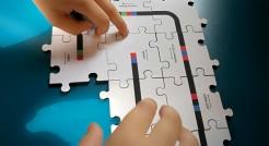 Drewniane puzzle do Ozobot