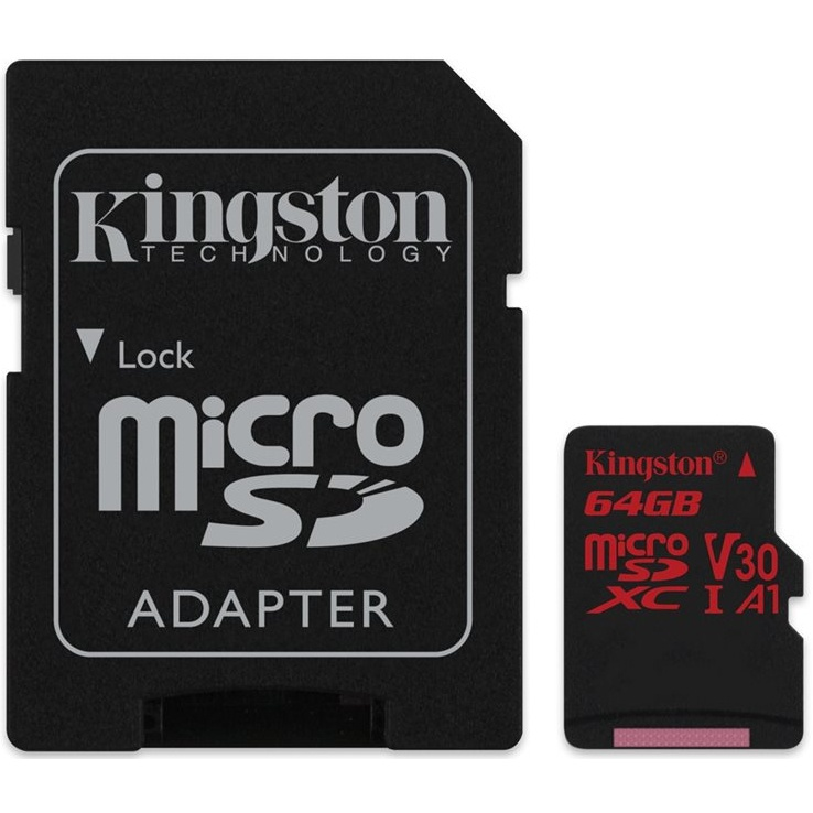 Kingston microSDXC 64GB UHS-1 U3 100R/70W