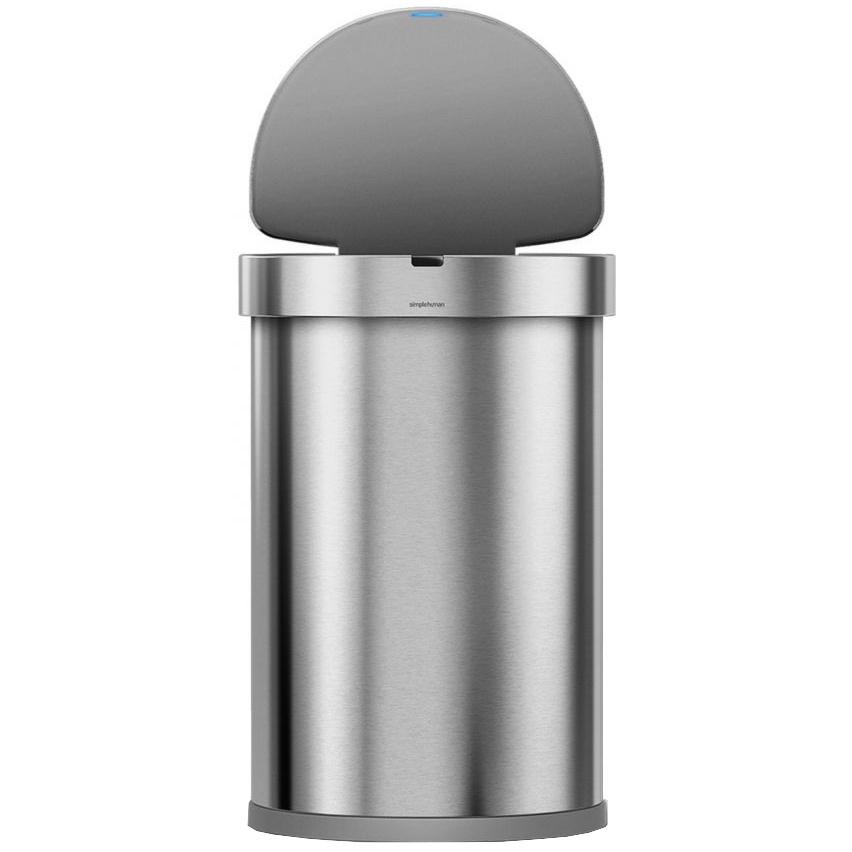 Simplehuman SEMI-ROUND 45L - silver