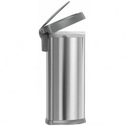 Simplehuman SEMI-ROUND 45L platikową pokrywą - silver