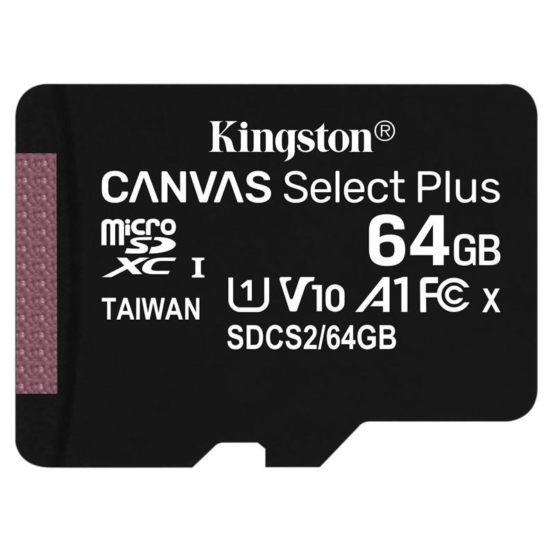 Kingston microSDXC 64GB UHS-1 U1 100R/10W
