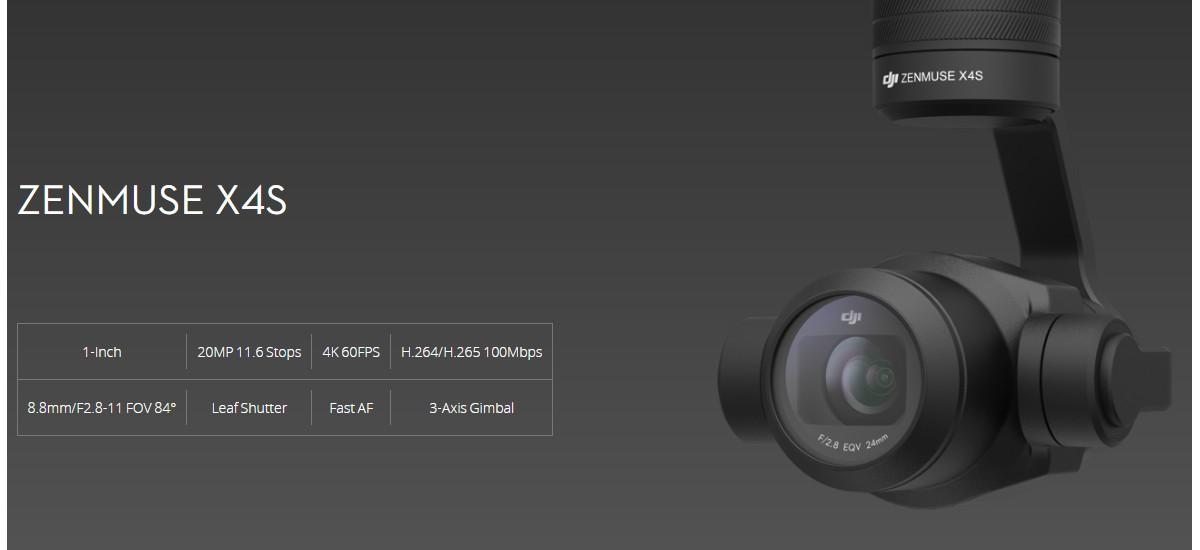Prezentacja kamery Zenmuse X4S do DJI Inspire 2