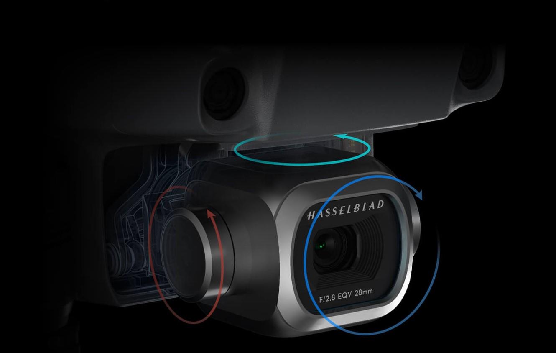 Wysokiej jakości 4K Ultra HD kamera Hasselblad z mechaniczną stabilizacją