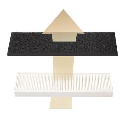 Podwójna filtracja - Filtr design HEPA wychwytuje drobny pył i alergeny