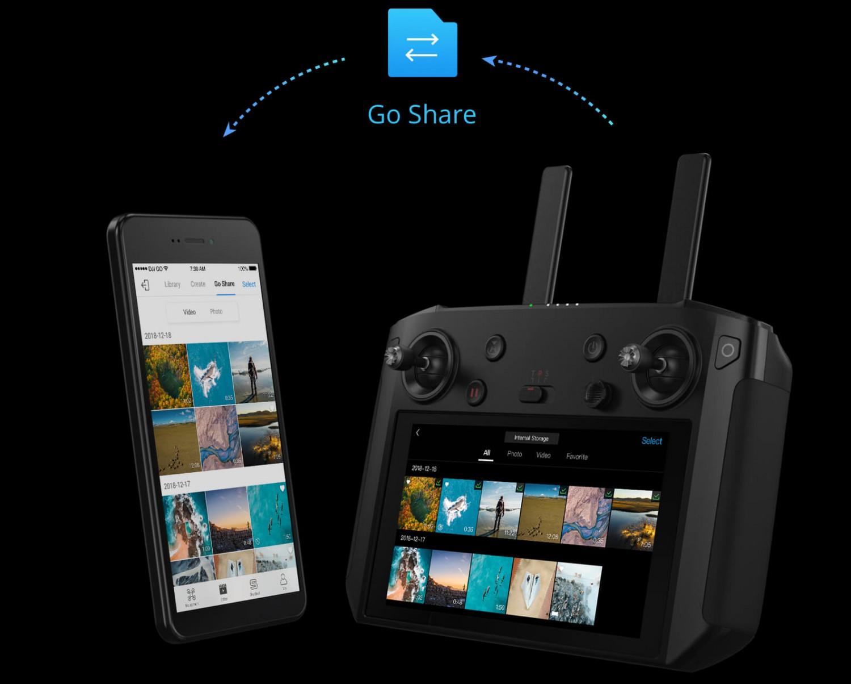 Aplikacja DJI GO 4, nowa funkcja Go Share