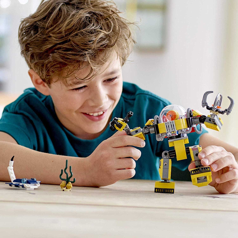 Prezentacja składanki LEGO Creator 31090 Podwodny robot 3w1