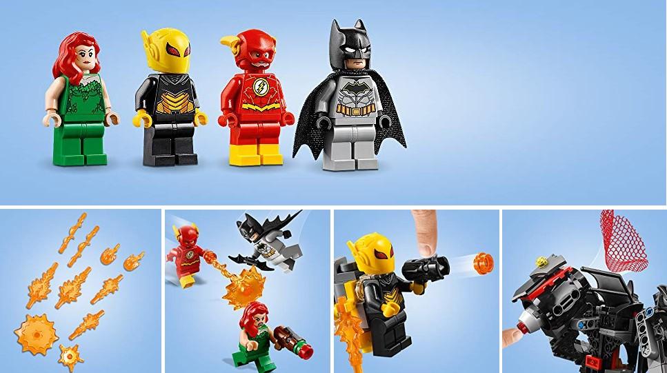 Cztery minifigurki z wieloma elementami mocy