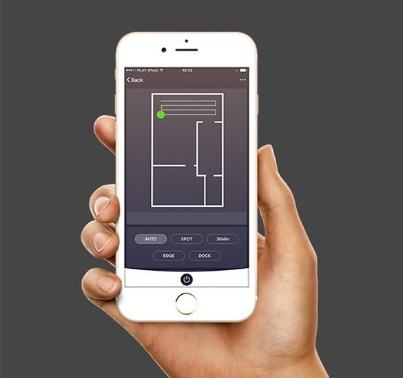 Monitoring pracy robota poprzez aplikację