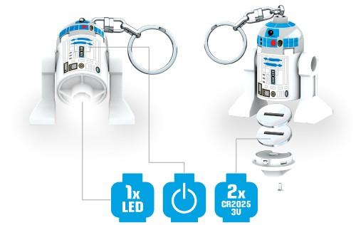 Prezentacja świecącej figurki LEGO Star Wars R2D2