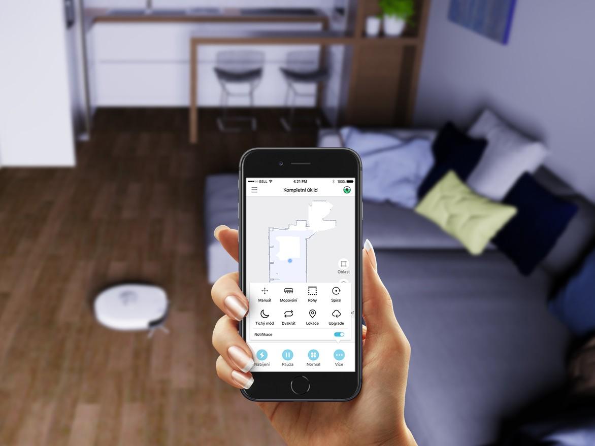 Steruj urządzeniem Symbo LASERBOT 750 za pomocą telefonu