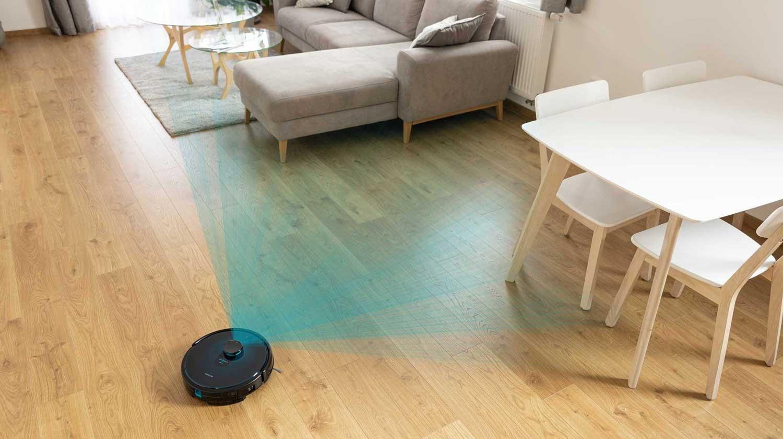 Z laserową nawigacją mapuję przestrzeń w celu wydajnego czyszczenia