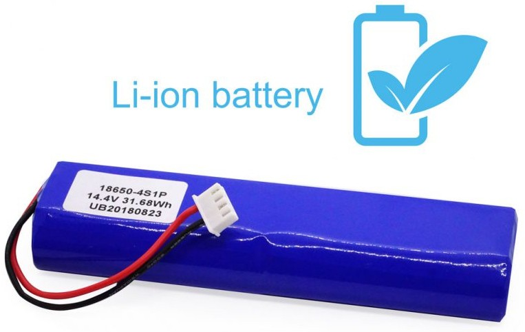 Nowoczesna bateria litowo-jonowa i podstawa ładująca