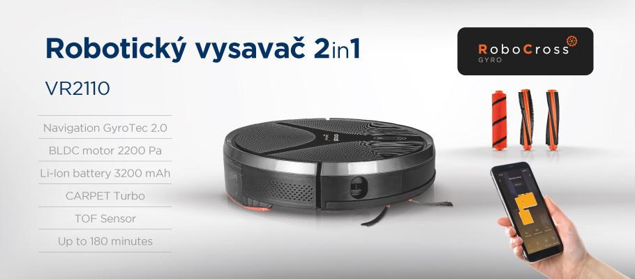 Prezentacja odkurzacza automatycznego Concept VR2110 2 w 1 RoboCross Gyro