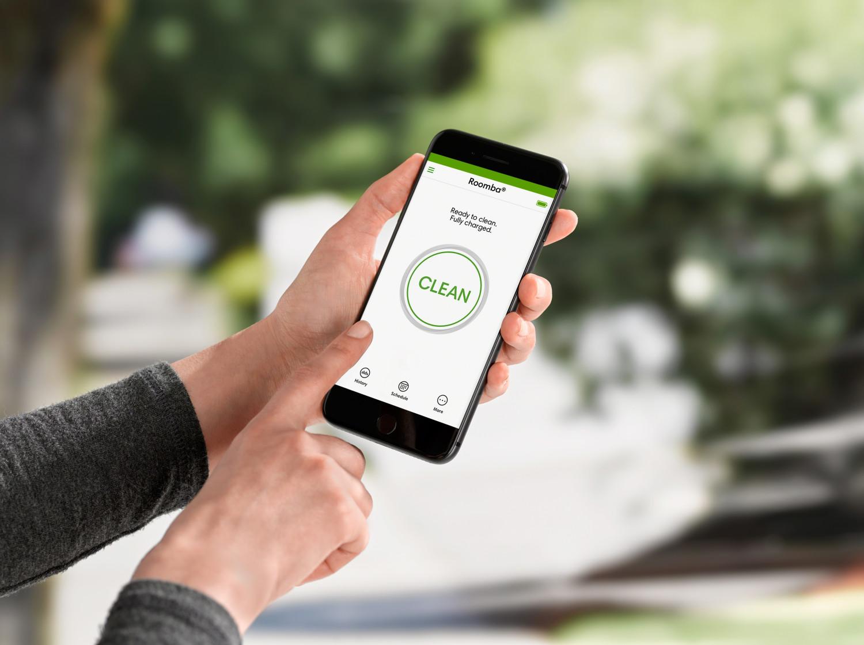 Z aplikacją mobilną iRobot HOME będziesz w stanie wyczyścić praktycznie skądkolwiek