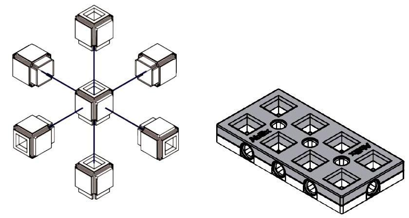 6 – stronne łączenie klocków
