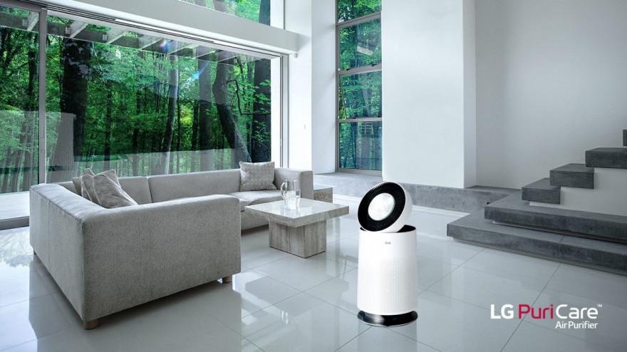 Prezentacja oczyszczacza powietrza LG PuriCare AS60GDWV0
