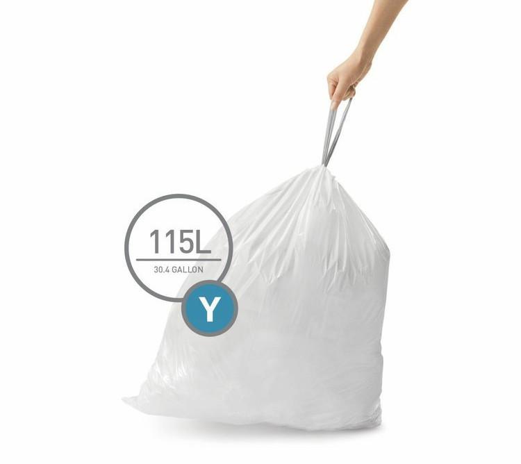 Prezentacja worków na śmieci Simplehuman typu Y