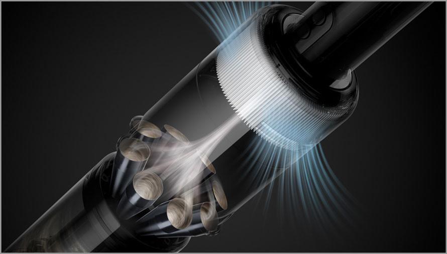Pięciostopniowy system filtracji wyłapuje drobne cząstki
